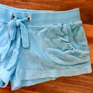 Shorts - Beachy Terry Swim Coverup Shorts w/ Pockets Sz XS